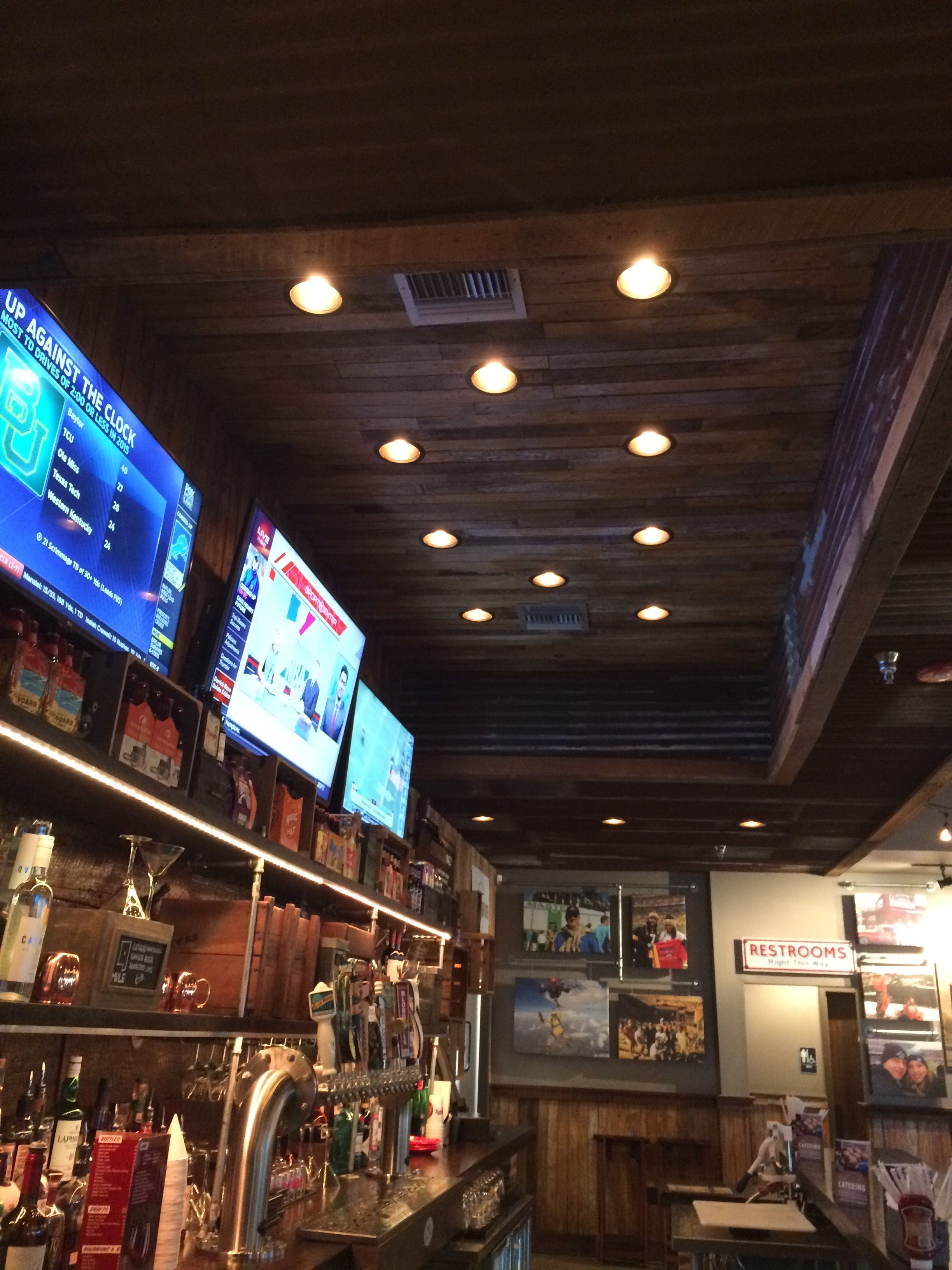 View from the inside of the bar at Mugshots in Ridgeland, MS