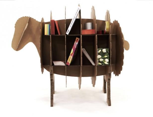 #Boekenkast van # karton #Kartonnen meubels