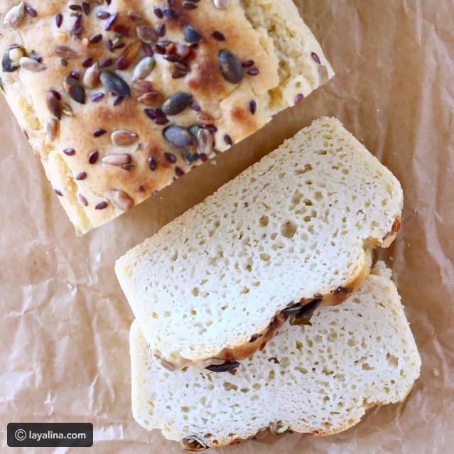 طريقة عمل خبز خالي من الجلوتين أنواع الطحين الخالي من الجلوتين Almond Bread Gluten Free Vegan Bread Vegan Bread Recipe