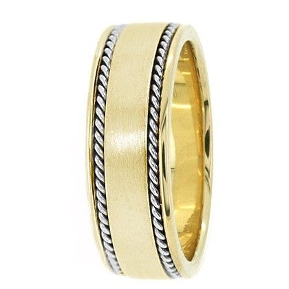 Jewelry Point - Handmade Wedding Band Ring 14k Yellow Gold