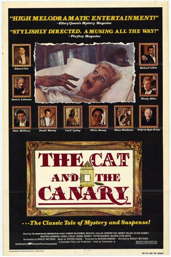 The Cat and the Canary - UK, 1978 - reviews (With images) | Movie ...