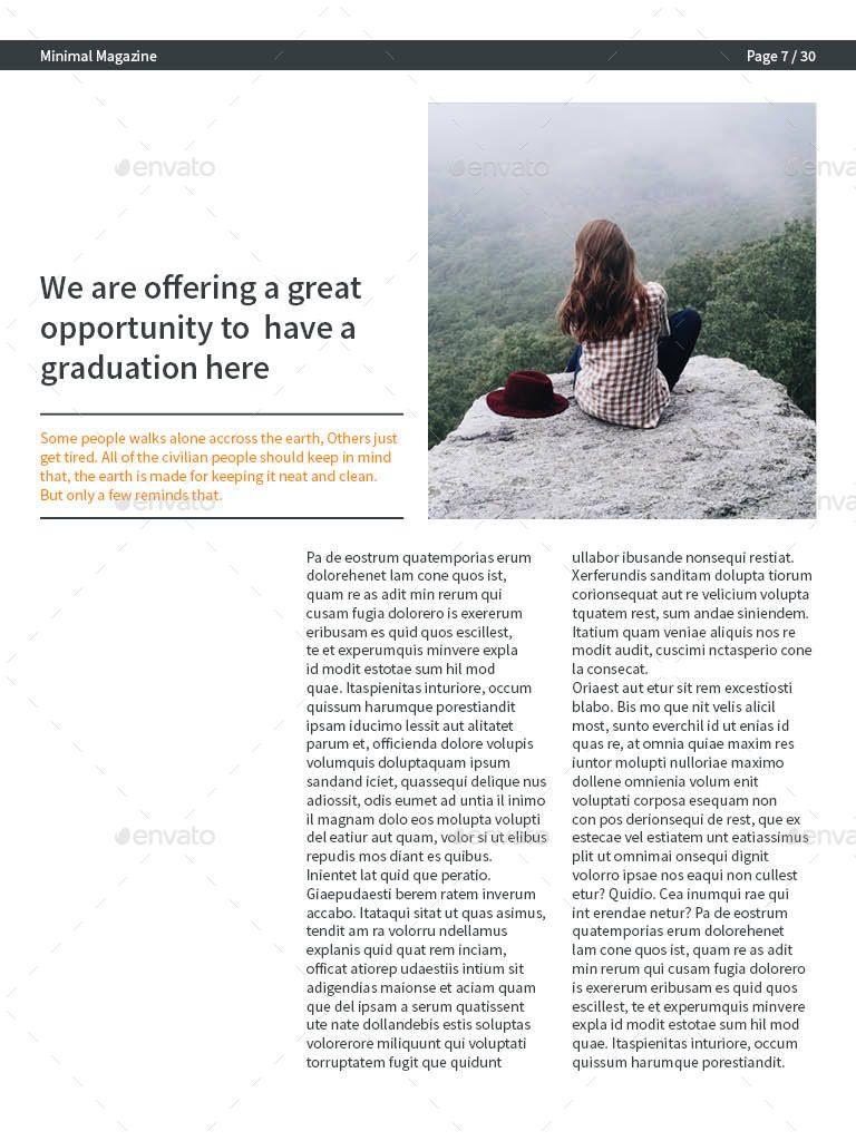 minimal e magazine template minimal magazine template design