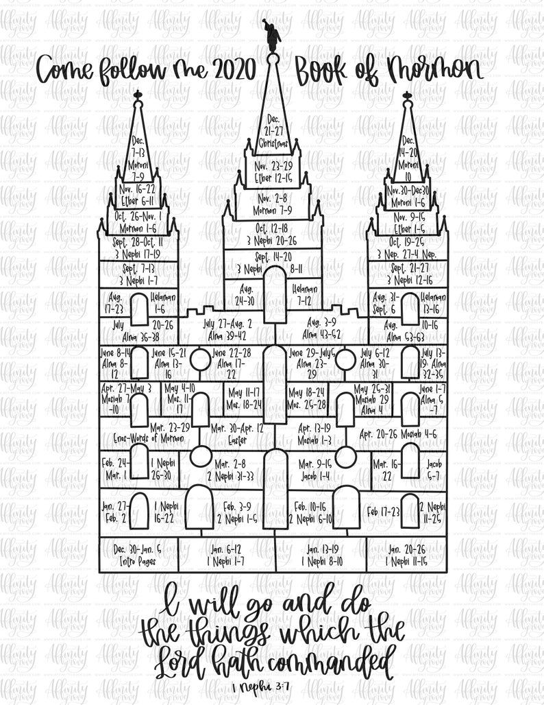 Come Follow Me 2020 Printable Coloring Page With Youth Theme Etsy In 2020 Youth Theme Coloring Pages Printable Coloring Pages