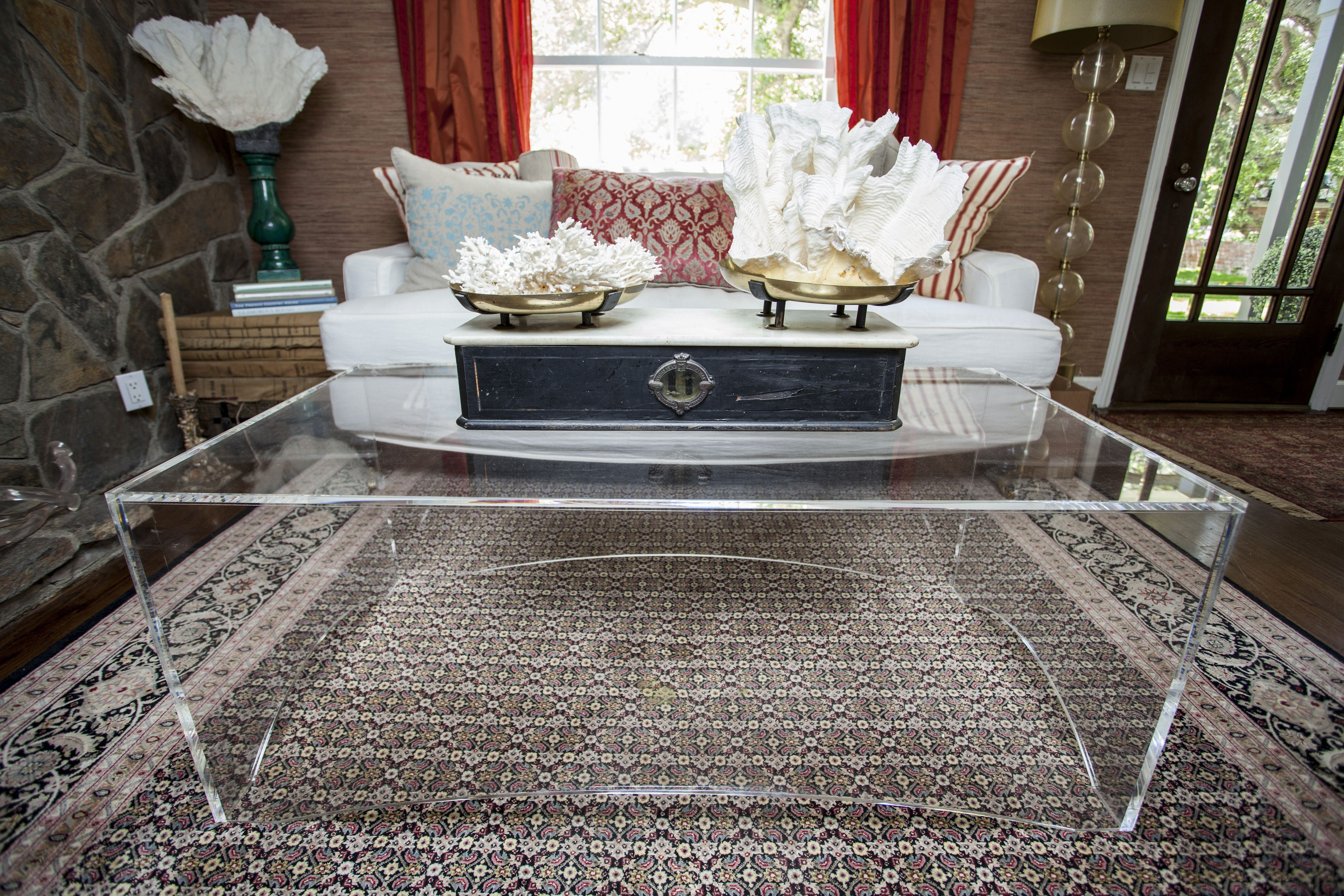 Grace Blake New Acrylic Arched Coffee Table