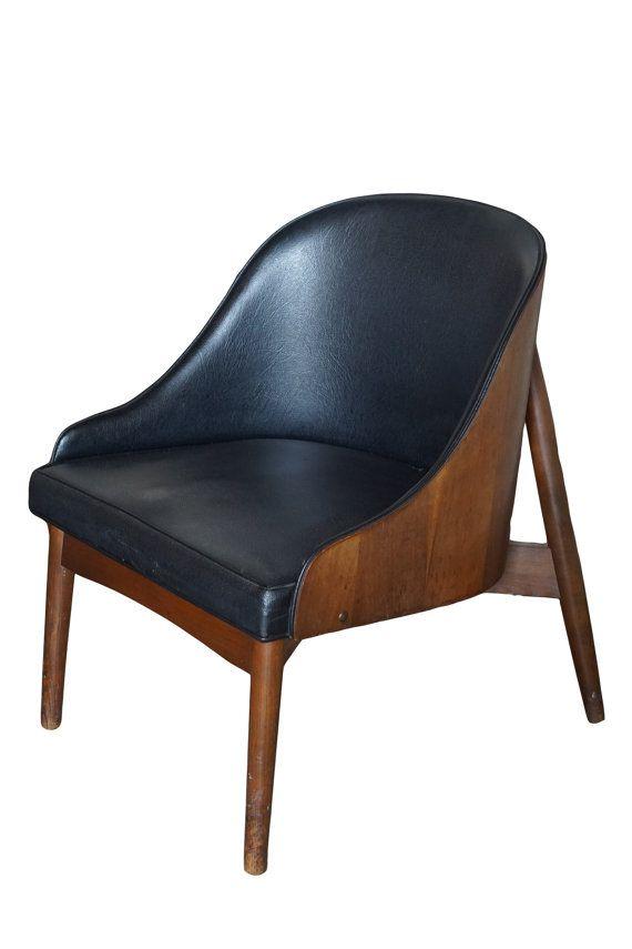 Mid Century Modern Leather and Wood Danish by PavonaInteriors