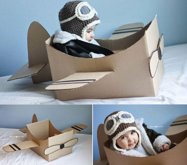 diy : fabriquez votre avion en carton | bb, babies and bricolage