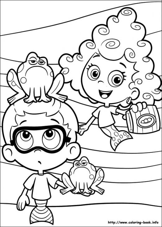Funny Deema And Nonny From Bubble Guppies Coloring Page Nick Jr