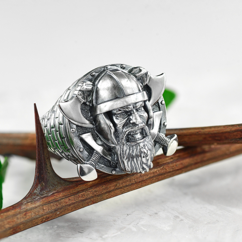 Viking arm ring Sterling silver viking shield ring viking
