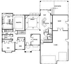 rambler house plans with basements panowa home plan rambler rh pinterest co uk Ranch Rambler Floor Plans 3 BR Rambler Floor Plans