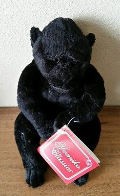 "NEW RUSS Yomiko Classics Gorilla Black Jungle Safari 8"" Stuffed Animal Plush Toy"