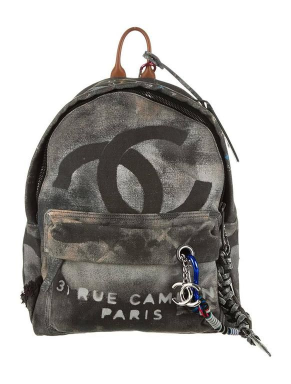 ff28c3e1c12104 Chanel Graffiti Backpack | Bag | Chanel backpack, Chanel canvas, Chanel