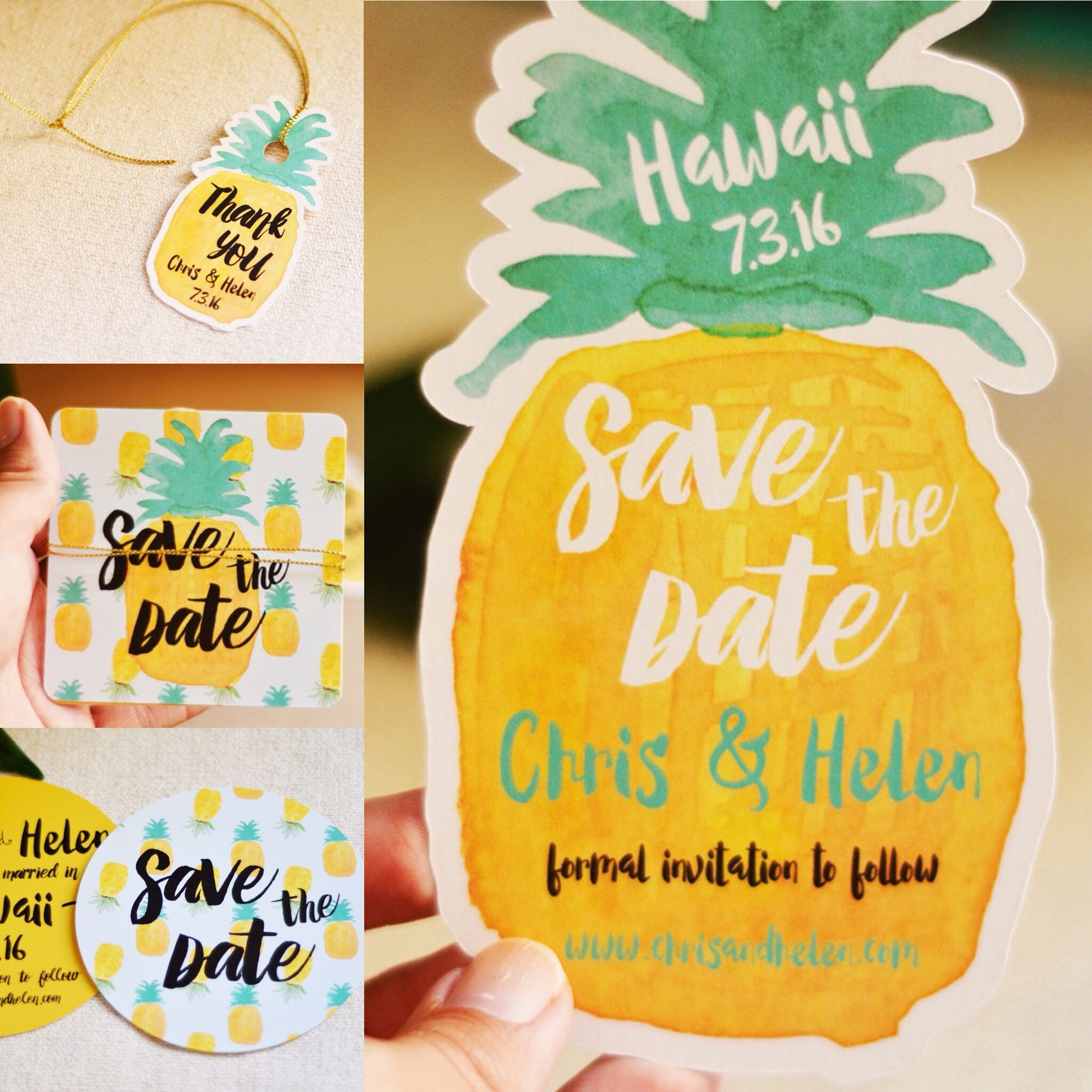 Pineapple save the date collection shop the pineapple collection pineapple save the date round invitation round shape httpsetsylisting242016293round save the date wedding pineapple pineapple save the stopboris Images