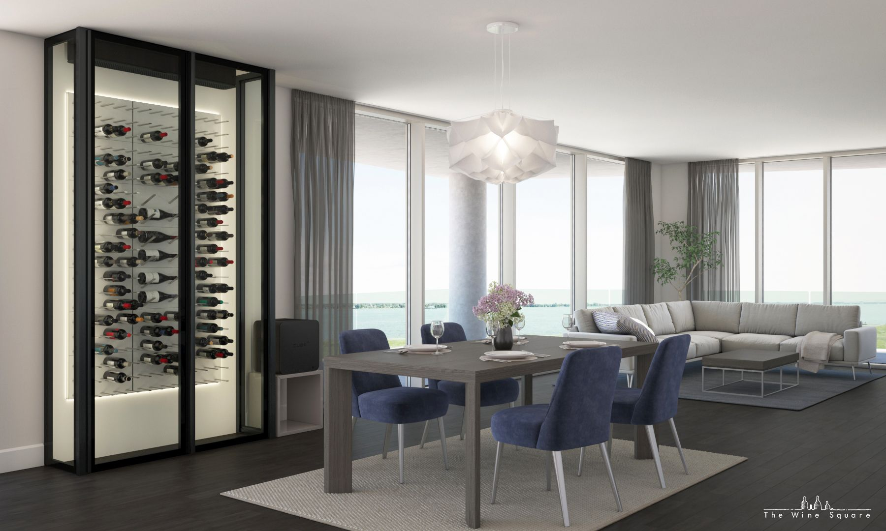 Sophisticated Contemporary And Luxurious Wine Cellar Beautiful