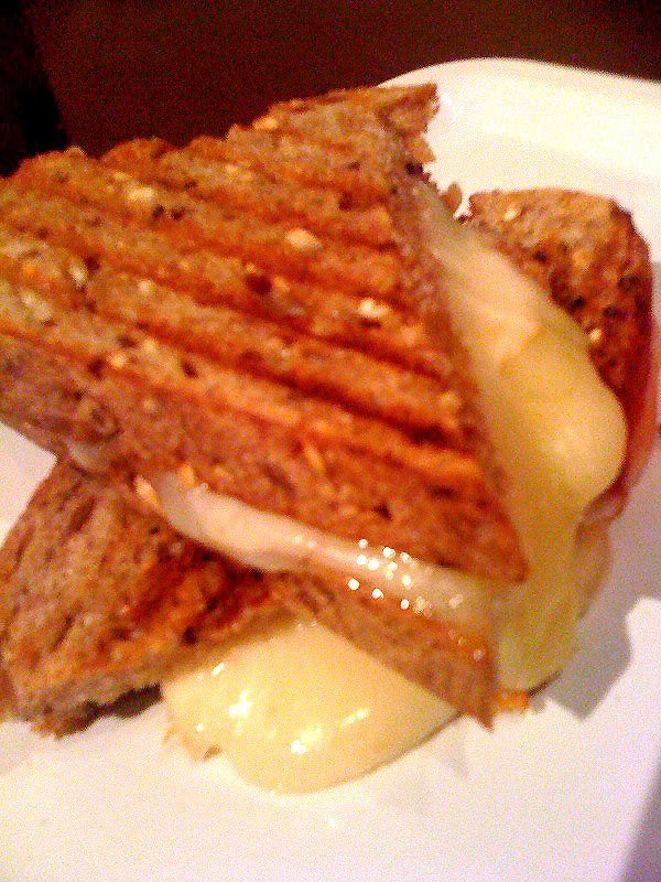 Grilled cheese. Three cheese: Monterey Jack, Swiss & Provolone on Avalon organic wheaty-wheat. Avalon sandwiches for stella. Detroit. #cheeseavalanche