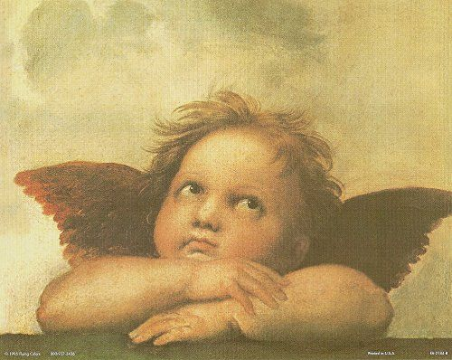 Raphael Right Cherub Little Angel Of Sistine Madonna Wall Decor