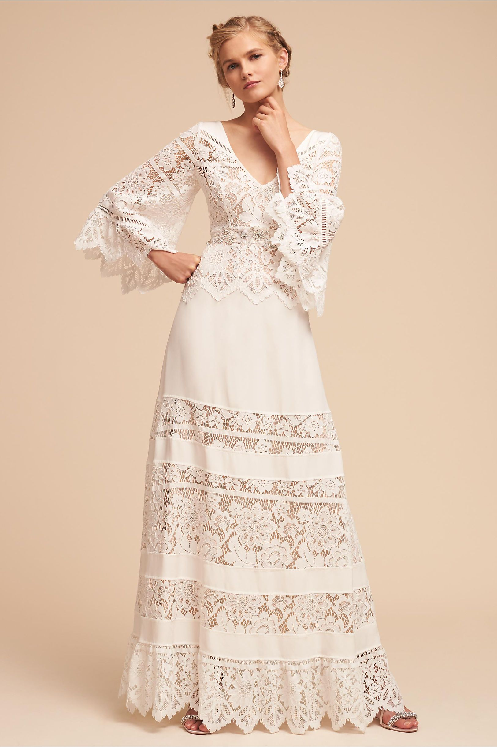 Bhldn S Tracy Reese Aspen Gown In Ivory