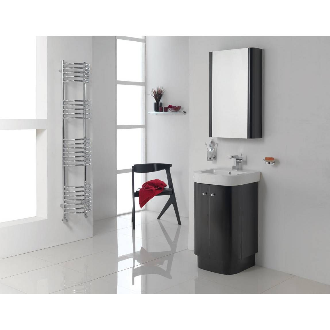 Divine Black Floor Mounted Unit Basin Mfi 229 Includes It Projects 450 Mm Out Which Probably Makes Too Need To Measure