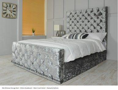 Ella Gas Lift Ottoman Storage Bed Frame Available In Crush Velvet