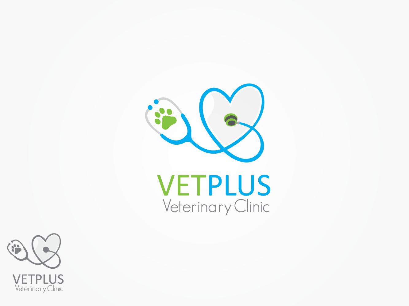 Logo Design For Vet Plus Veterinary Clinic Dr Pet Clinica Veterinaria Logomarca