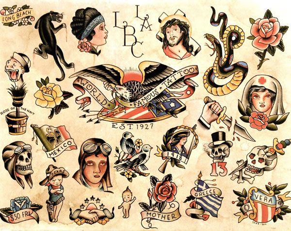 Love Old Classic American Tattoos Tatt Traditional Tattoo Art