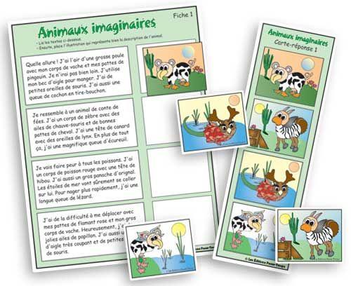 Animaux imaginaires - Compréhension de lecture - Les Éditions Passe-Temps