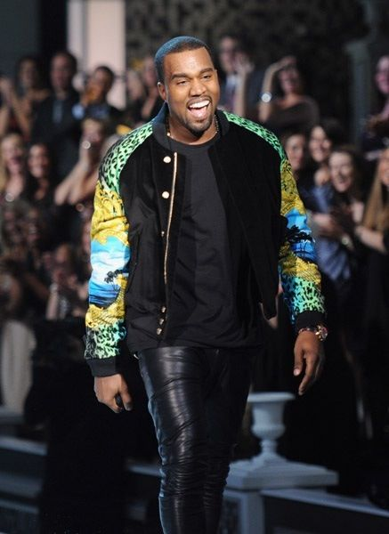 Kanye West Rocking A Pair Of Leather Meggings At A Fashion Show Kanye West Style Kanye Fashion Kanye West