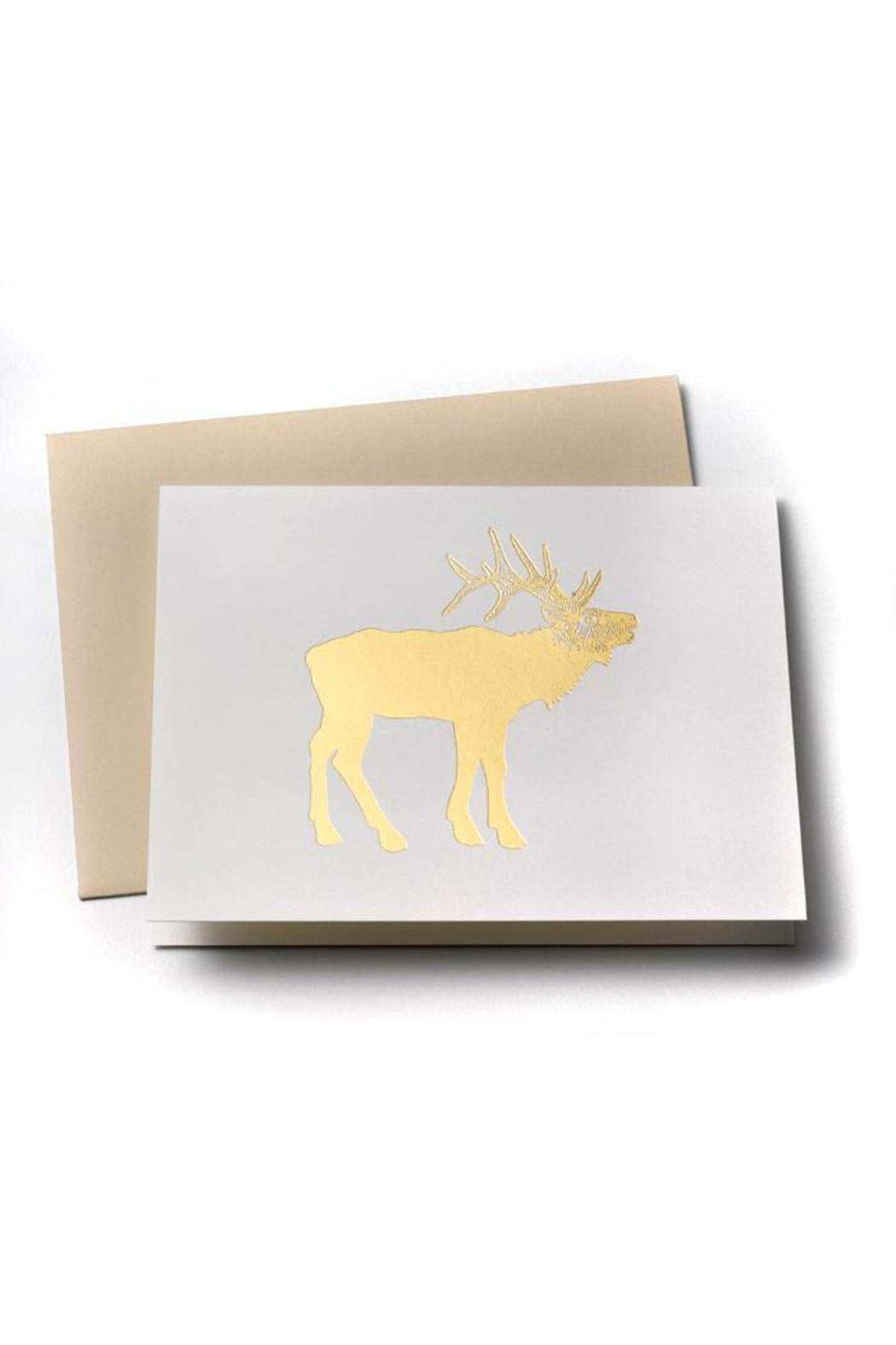 Sycamore street press elk greeting card elk thank you greeting card printed on recycled paper in the utah mountains 4 x 6 blank inside elk greeting card by sycamore street press kristyandbryce Image collections