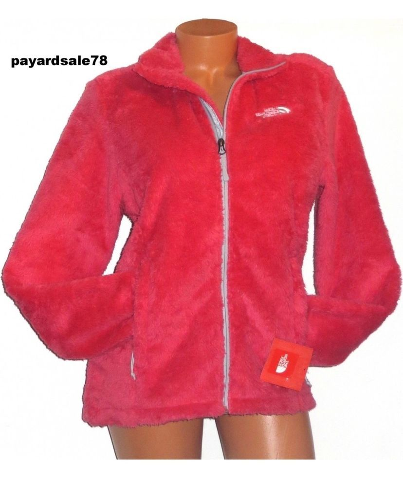 6f5fdb47c Details about The North Face Women's Osito bright pink fuzzy Fleece ...