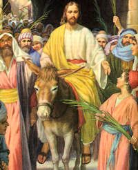 Image result for Jesus on palm sunday