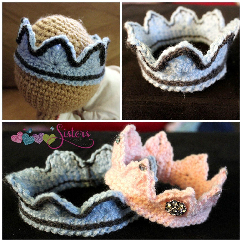 Crochet Princess Crown - Crochet Tiara - Newborn Crown - Newborn Princess -  Newborn Photo Prop 57dd43dff23