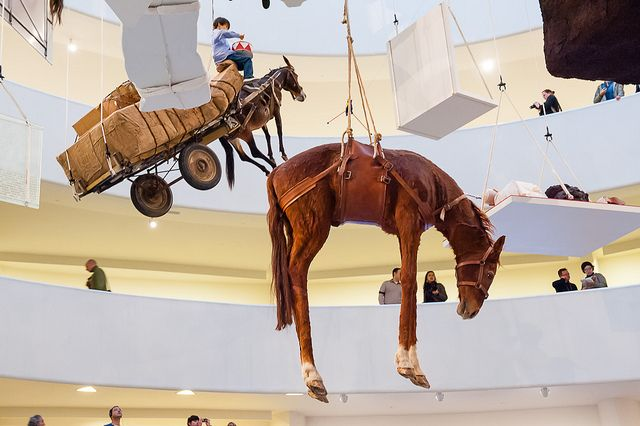Maurizio Cattelan All Exhibit At The Guggenheim Museum 64 New York Museums Artist Sleeping Dogs