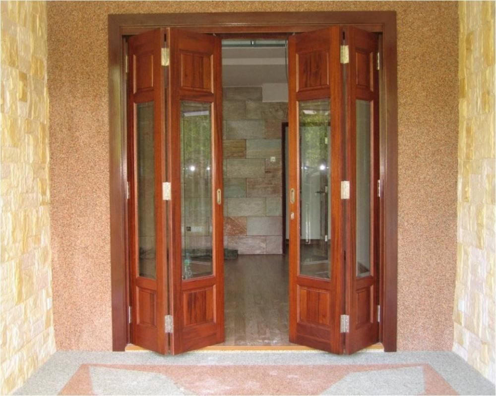 Accordion Wood Doors Interior