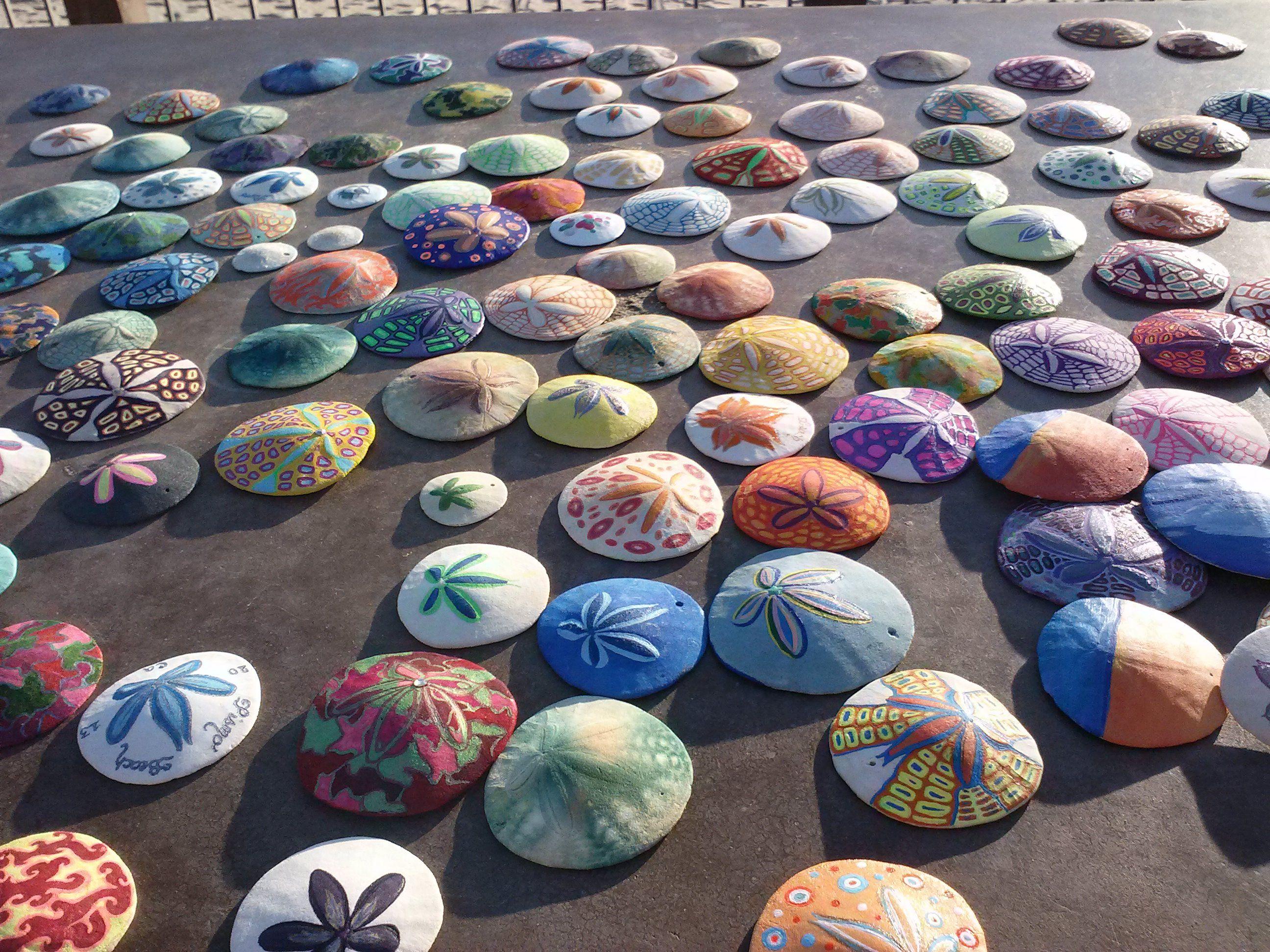 My Pismo Beach California Hand Painted Sand Dollars