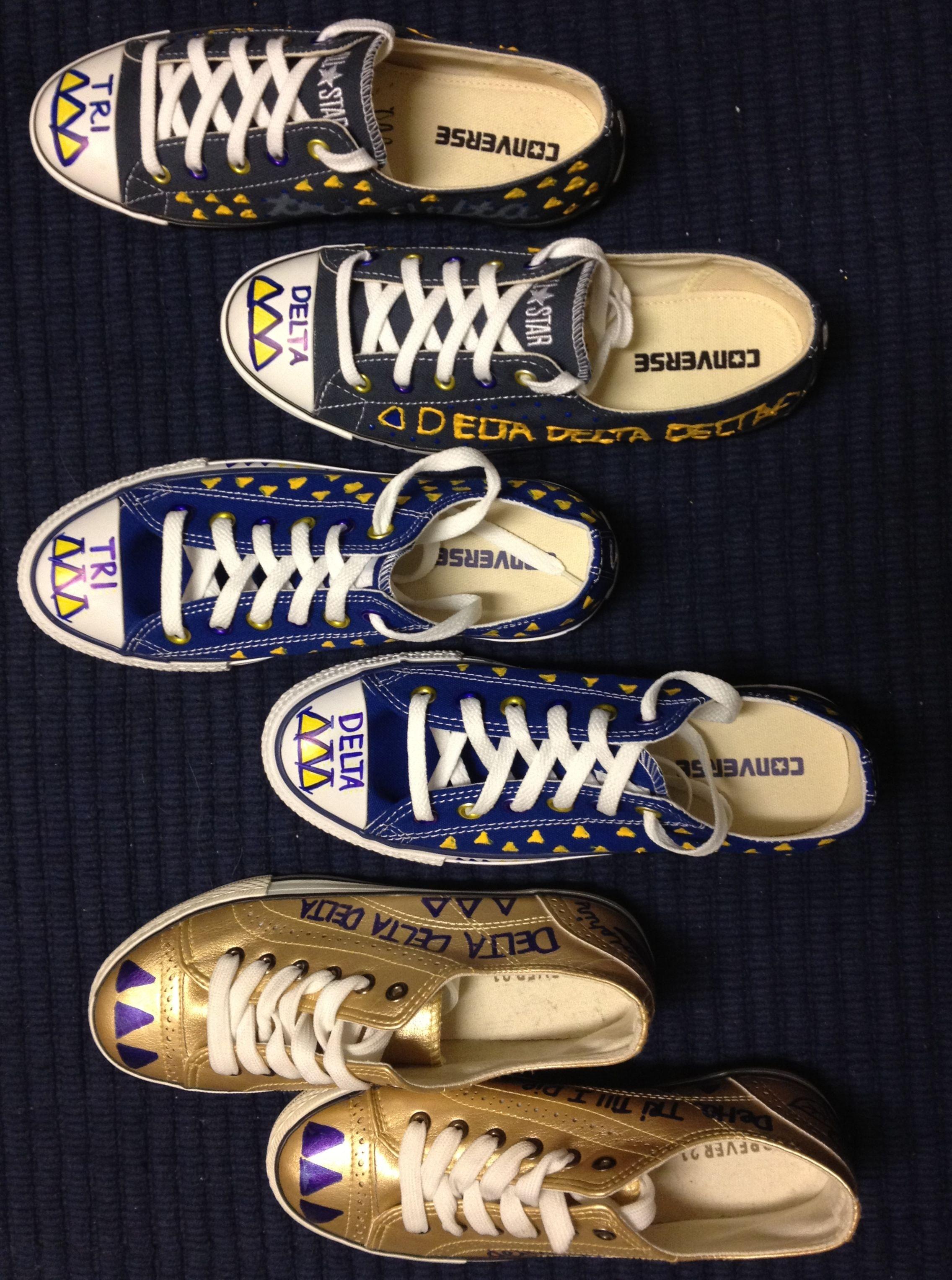 Tri Delta Sneakers ΔΔΔ
