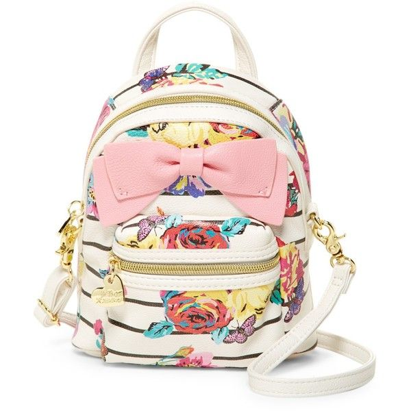 Betsey Johnson Backpack Crossbody (55 CAD) ❤ liked on Polyvore ...