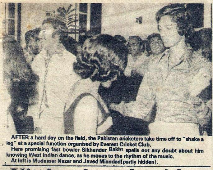 Pin By Hajira Khan On Images From Newspapers Pakistan Cricket Dance The Night Away West Indian
