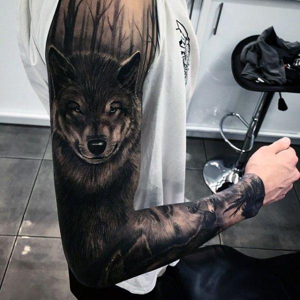 Niesamowity Tatuaż Wilka Ink Piercings Wolf