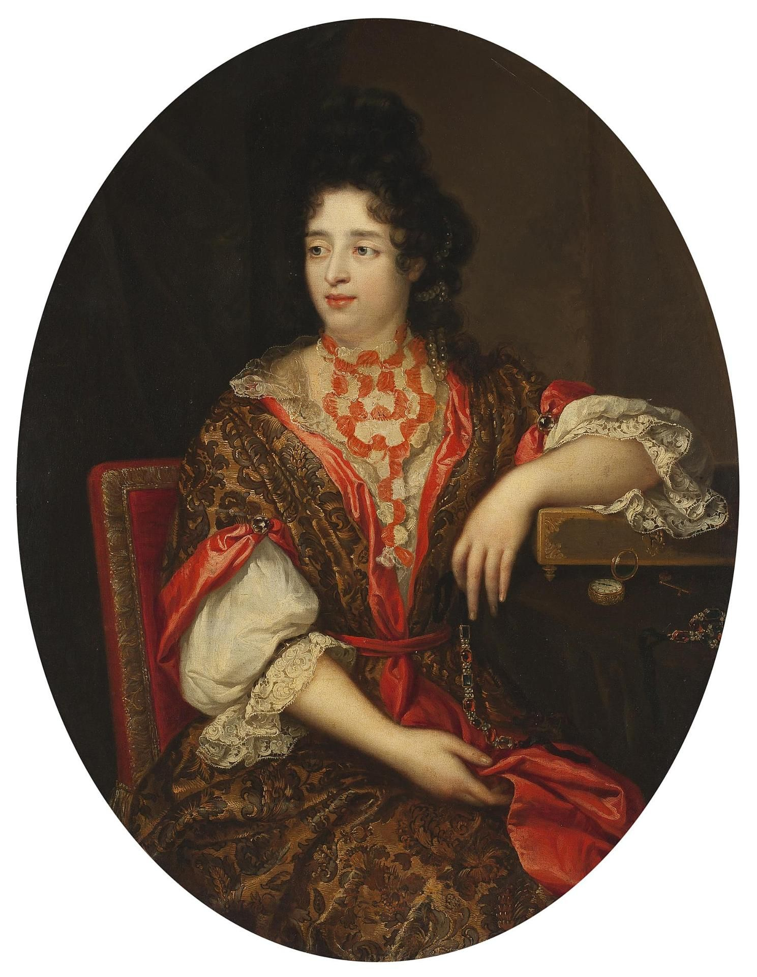 Court ladyinwaiting late th century by alexis simon belle