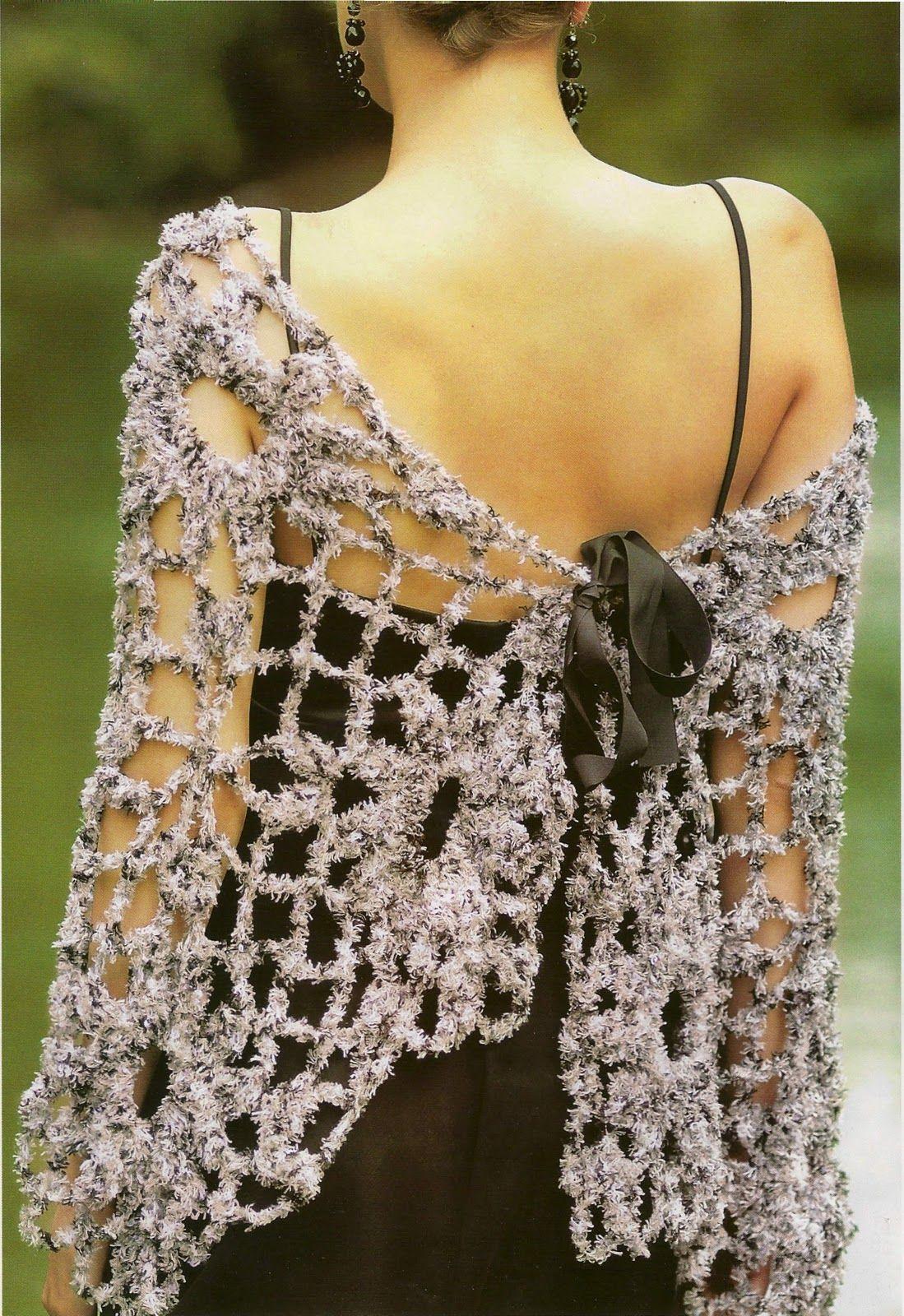 358 Chales Patrones para Tejer - Patrones Crochet | must | Pinterest ...