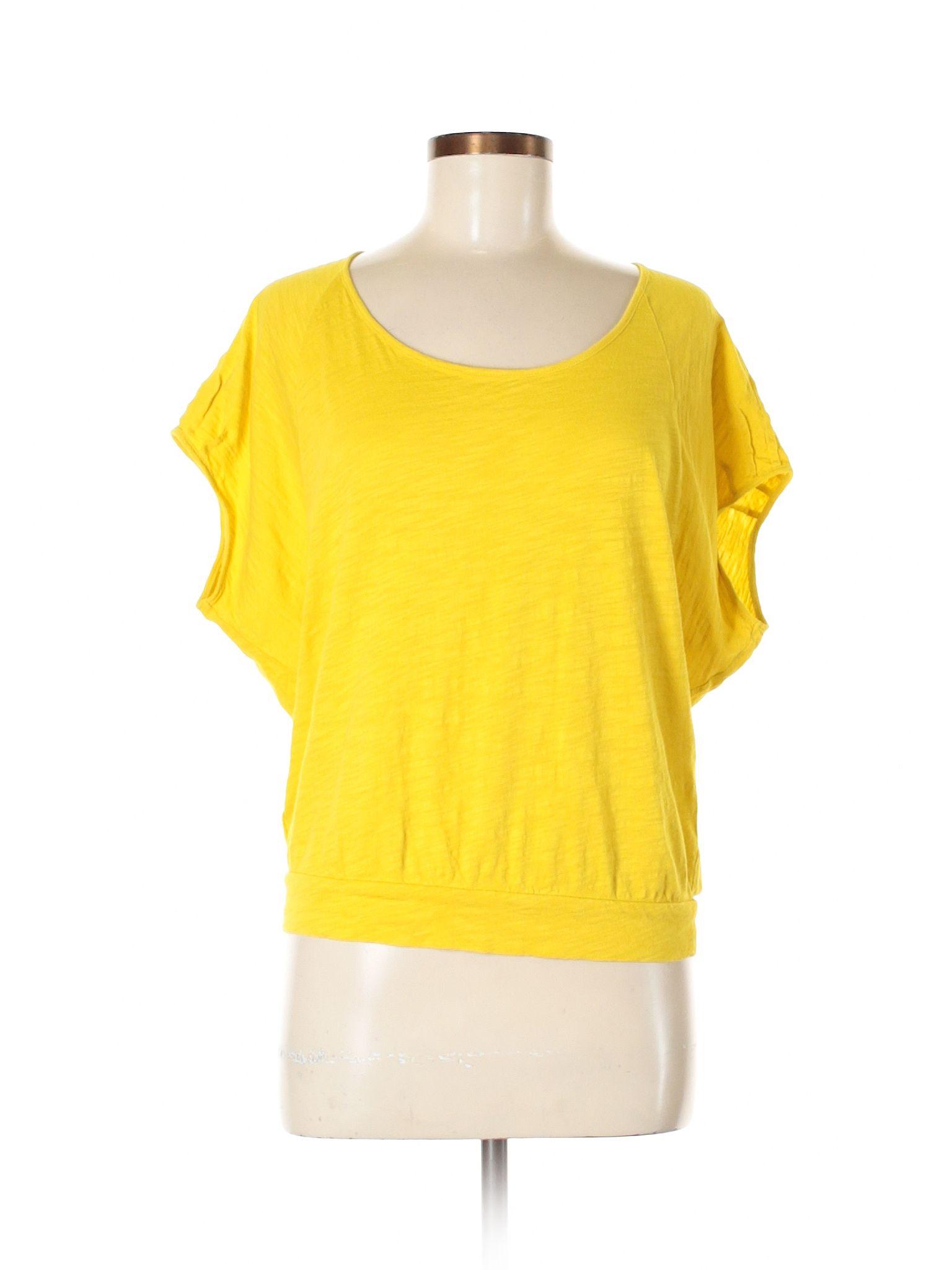 e5975c2bdbcfe Ann Taylor LOFT Short Sleeve T Shirt: Size 4.00 Dark Yellow Women's Tops -  $6.99