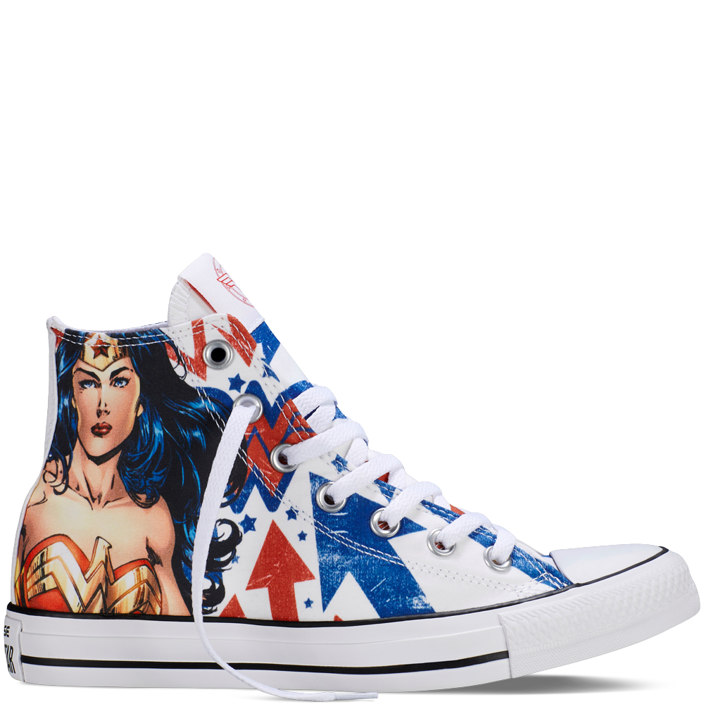 a305bedb0fd1 Chuck Taylor All Star DC Comics Wonder Woman White white