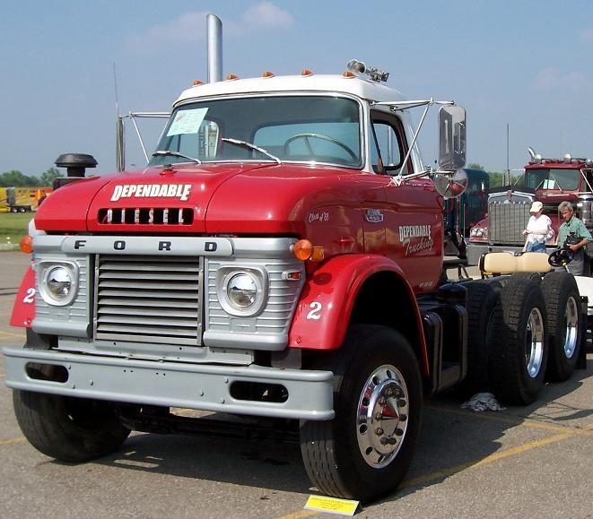 N Series Ford Semi Truck Remember These Well Ford Trucks Trucks Big Trucks