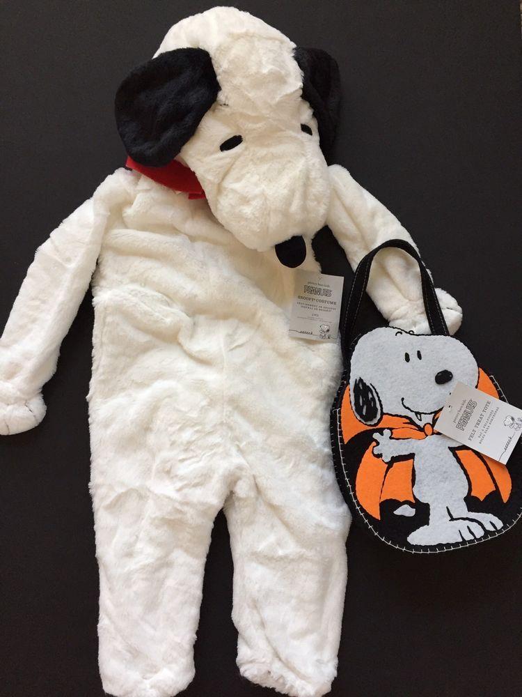 Pottery barn kids snoopy halloween costume size 3t treat