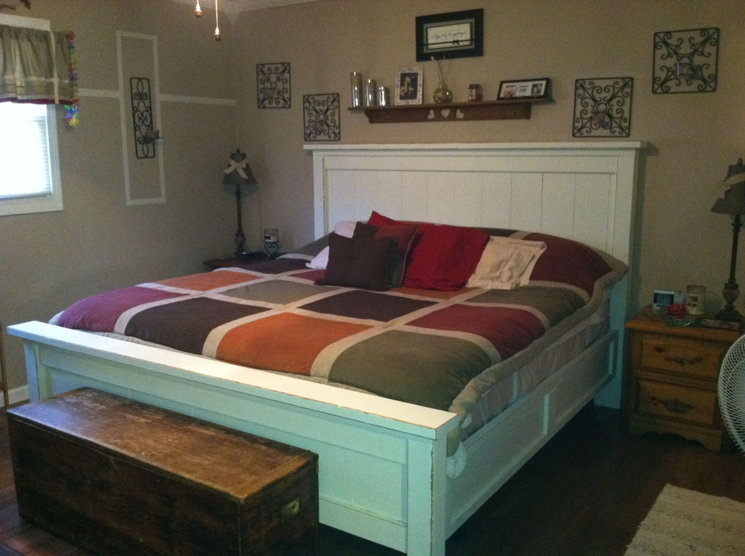 Ana White Farmhouse bed! | Headboard design | Pinterest | White ...