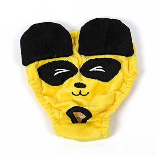 Lovely Baby Pet Apparel Girl Dogs Washable Panda Pattern Diaper Sanitary Panties Female Pets Period Pants LYDiapersYELLOW001L * For more information, visit image link.(This is an Amazon affiliate link and I receive a commission for the sales)