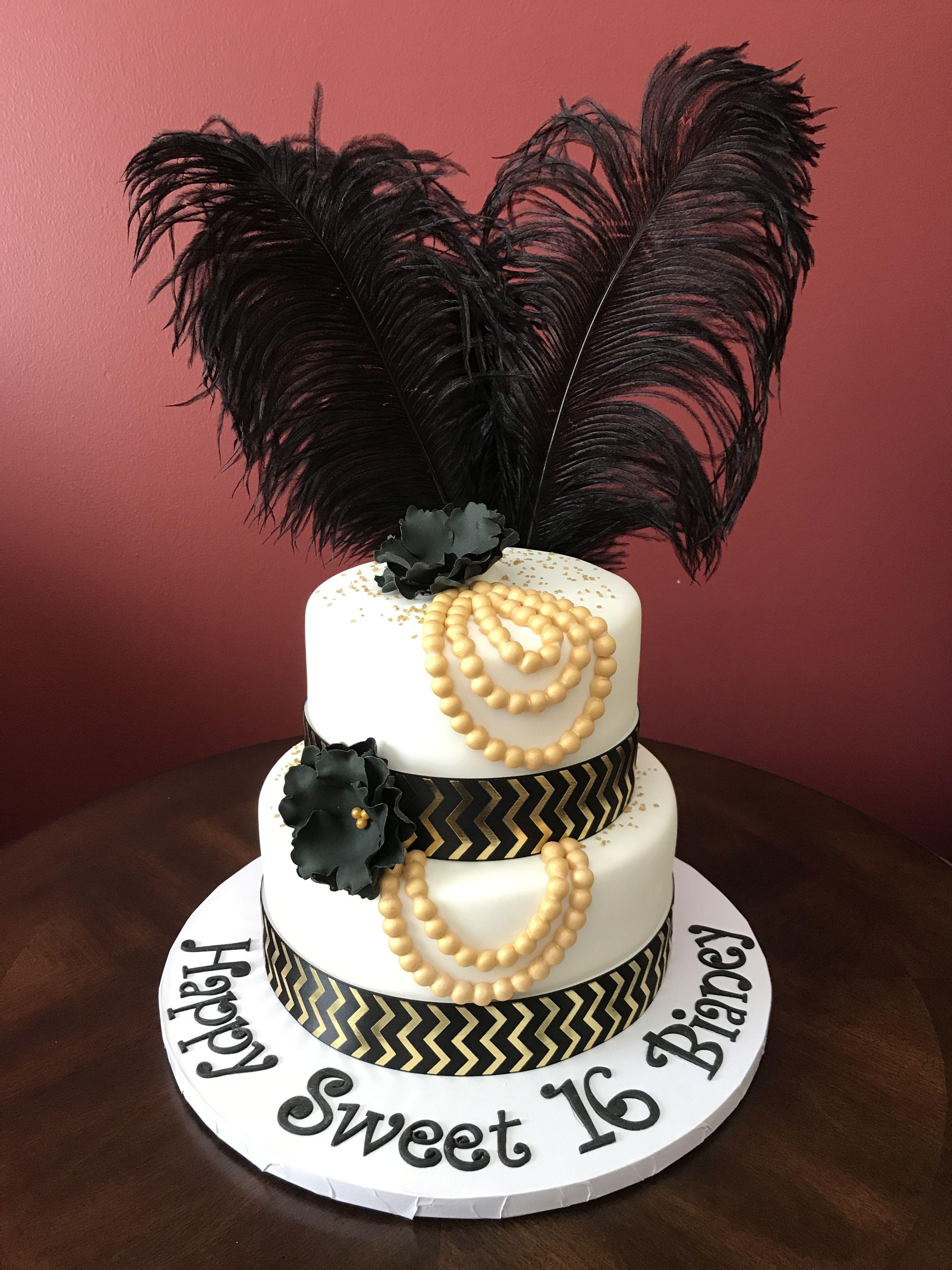 Great Gatsby Birthday Cake Gatsby Birthday Party Themed