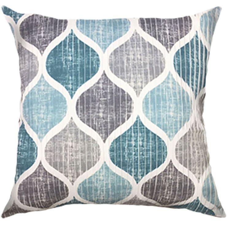 Hollis Turquoise Grey Throw Pillow Grey Throw Pillows Throw Pillows Affordable Throw Pillows