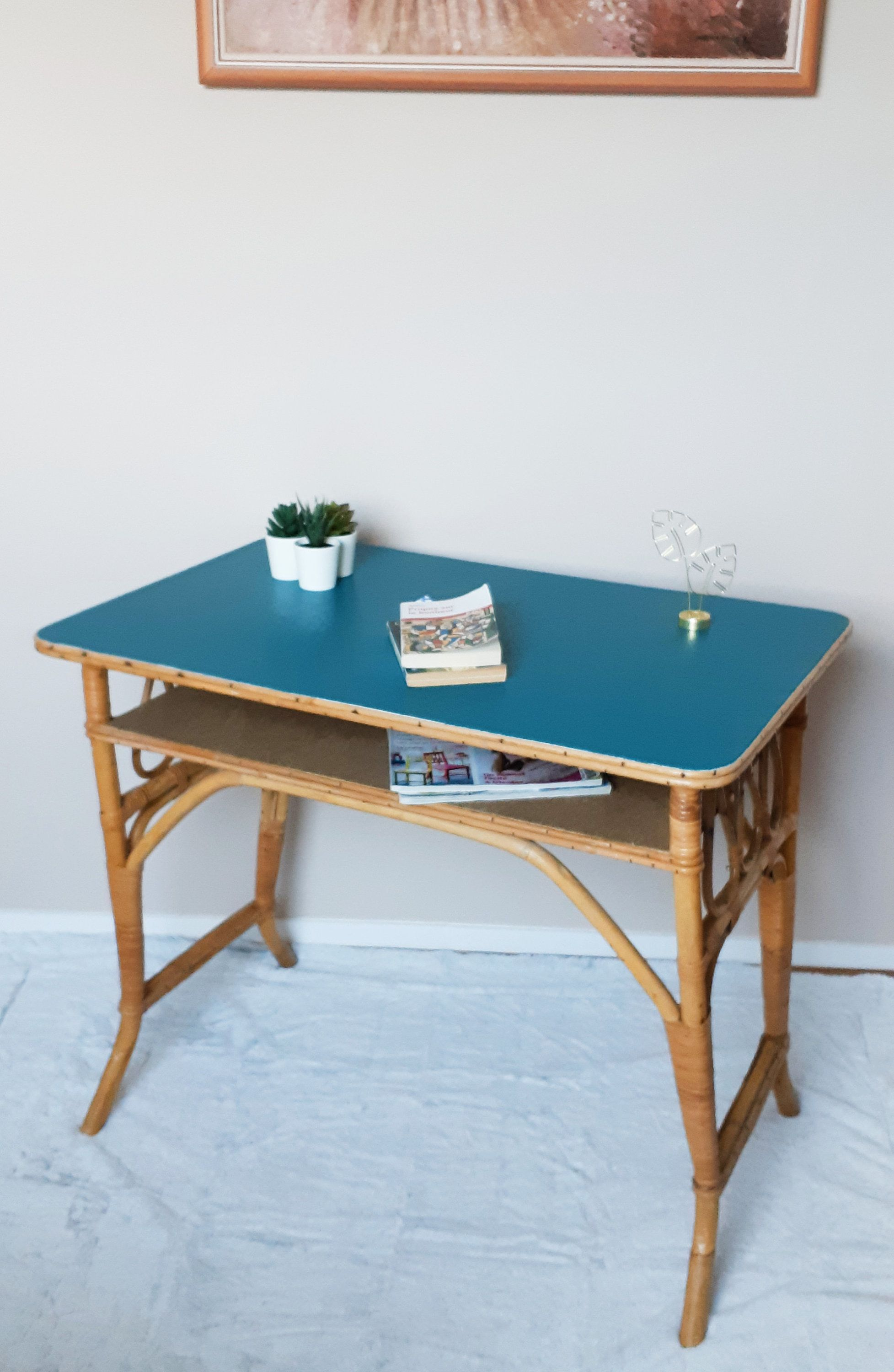 Table Bureau En Rotin Vintage Ping Pong Table Ping Pong Vintage