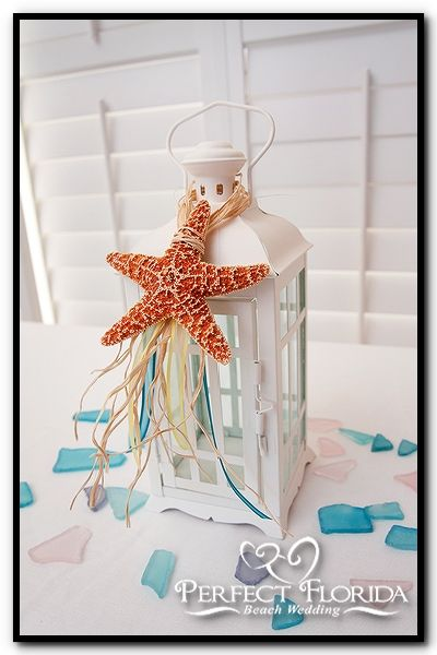 Beach Themed Centerpieces Florida Weddings