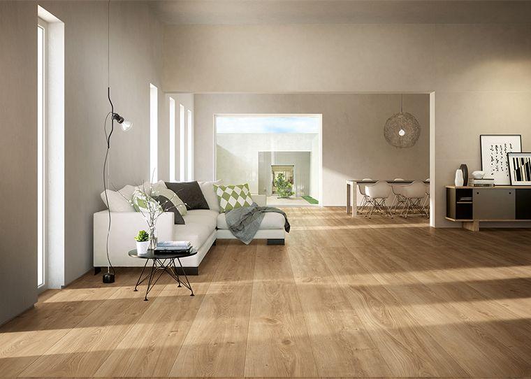 Ceramiche fondovalle gres effetto legno dai grandi for Decorazioni pavimenti interni